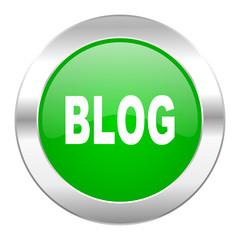 blog green circle chrome web icon isolated