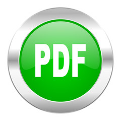 pdf green circle chrome web icon isolated