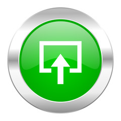 enter green circle chrome web icon isolated