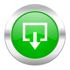 exit green circle chrome web icon isolated