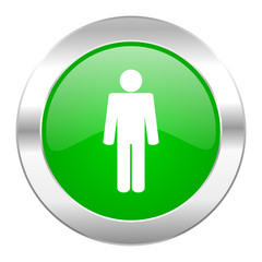 male green circle chrome web icon isolated