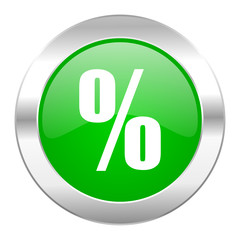 percent green circle chrome web icon isolated