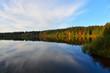 canvas print picture - See im Herbst und Nebel