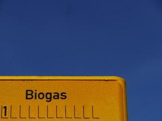 biogas sign