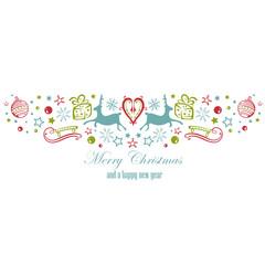 Weihnachtsdekoration mit Rentieren