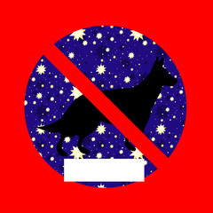 Creative prohibiting sign
