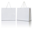 Leinwanddruck Bild - white paper bag on white background