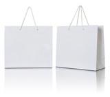 white paper bag on white background - 71536081