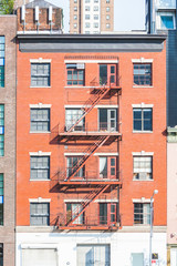 Typical Fire Escape in New York Buildings