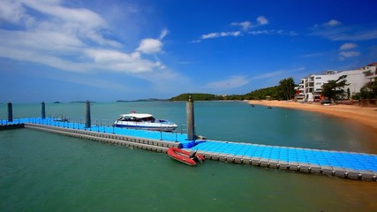 pier on the island of Koh Samui in Bophut area