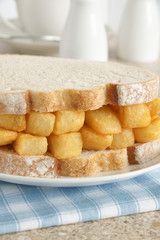 Chip Butty a British fast food