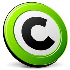 copyright green icon