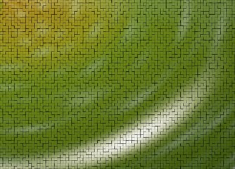 Abstract soft green tiled background