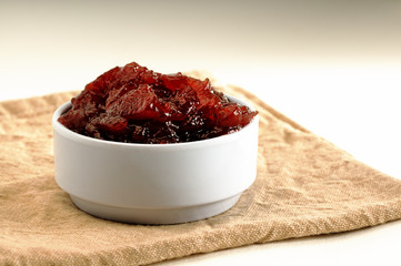 Jam in a bowl