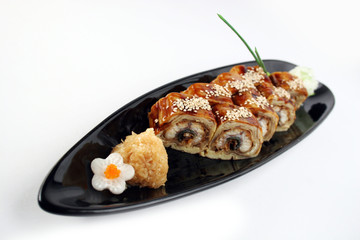 Sushi roll with conger eel
