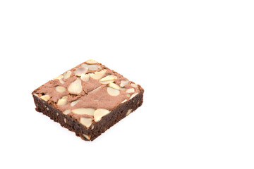 Brownie isolated on white