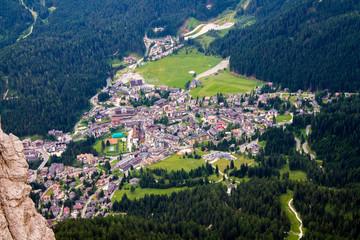 view of San Martino di Castrozza in Italy
