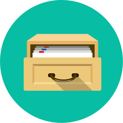 Vector Open Card Catalog