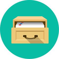 Vector Open Card Catalog