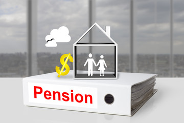 office binder pension house grandparents