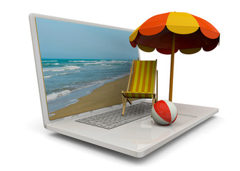 Online Booking Concept - 3D