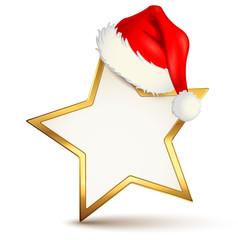 Weihnachtsstern mit Nikolaus-Mütze