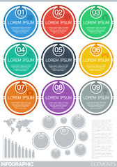 Infographic elements (flat design)