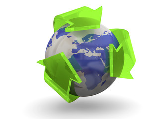 Recycling World Concept - 3D