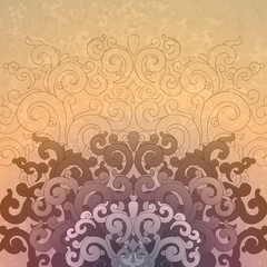 Background made in oriental style.