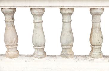 Stone bannister pillars.