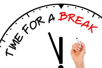 Time for Break Concept
