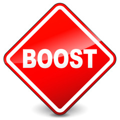 Red boost sign