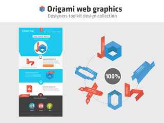Web graphics - origami style