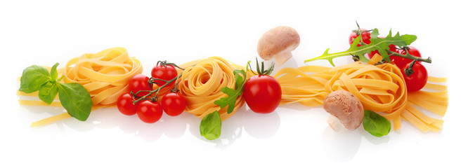 Italian cooking and ingredients horizontal banner