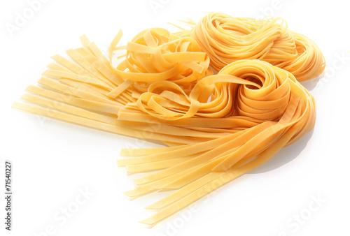 Papiers peints Table preparee Fresh Italian Pasta Isolated on White