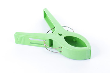 Green Plastic clamp
