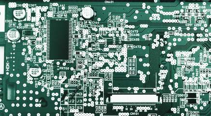 Modern electronic board close-up