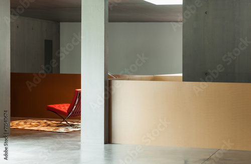 canvas print picture interior house, concrete wall