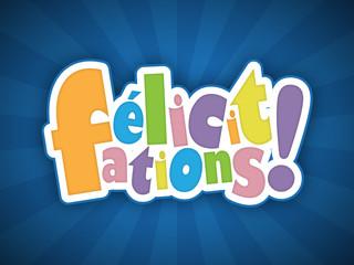 """Carte """"FELICITATIONS!"""" (bravo compliments voeux message)"""
