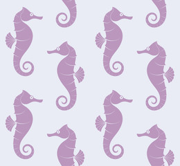 Sea Horse. Pattern