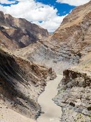 Zanskar river and Zanskar valley