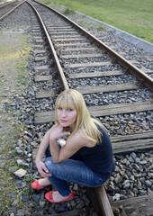 depressive junge Frau
