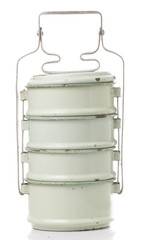 Old Food Carrier on White background