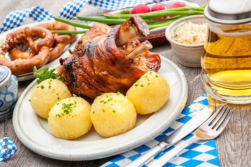 Foto op Canvas Restaurant Schweinshaxe