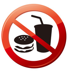 No eat and drink signs