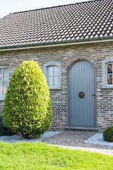 wooden door from house