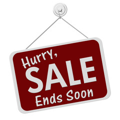 Sale Ends Soon Sign