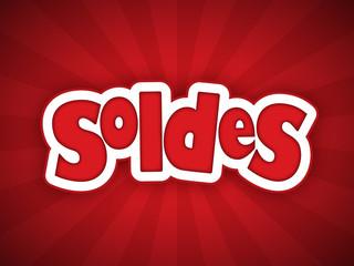"""""""SOLDES"""" (courses shopping offre spéciale publicité marketing)"""