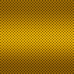 Gradient Golden color Perforated metal sheet
