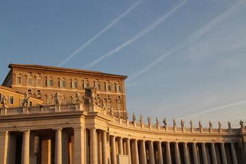 Abendrot über dem Petersplatz